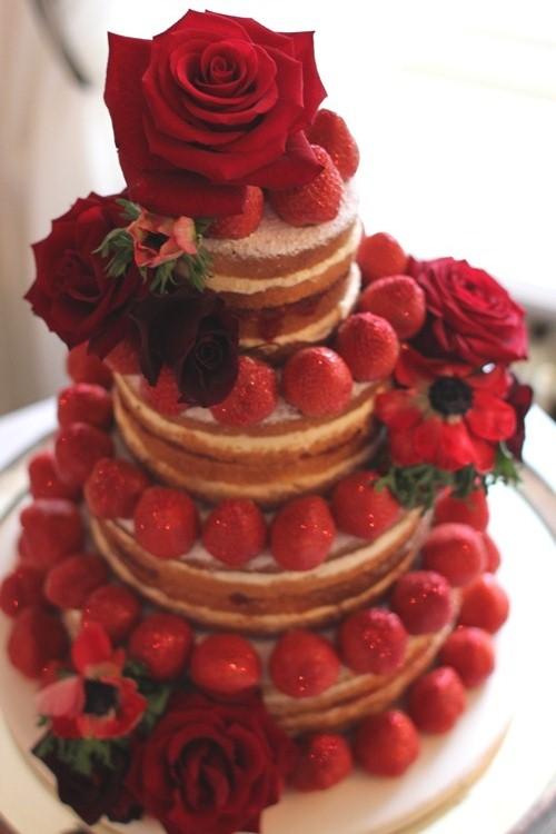 Rhubarb Rose Happy Valentine S Day A Red Rose Wedding Cake