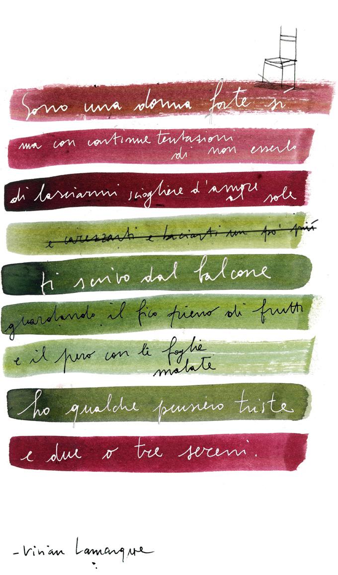 poesie vivian lamarque illustrazione francesca ballarini