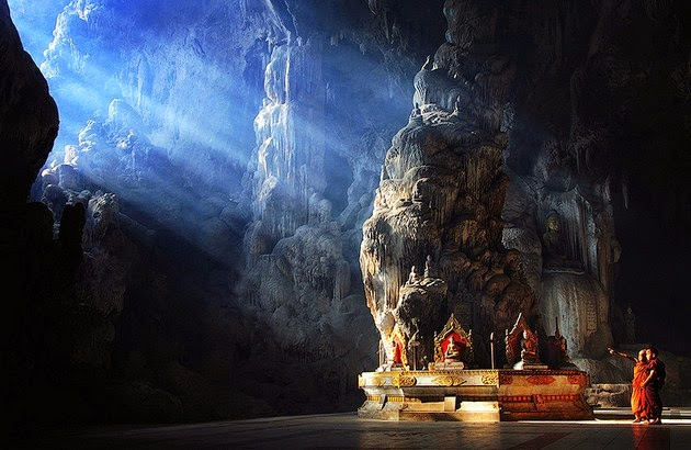 Buddha Temple inside Datdawtaung Cave, Myanmar