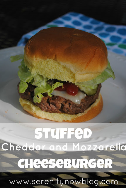 Stuffed Cheddar and Mozzarella Cheeseburger Recipe Serenity Now blog