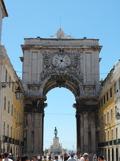 Praca do Comercio arch in Lisbon, Portugal