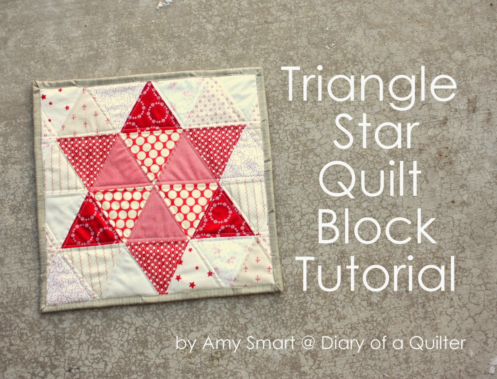 Triangle Star block tutorial