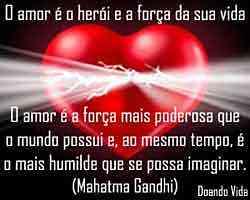 Amor é a força da vida