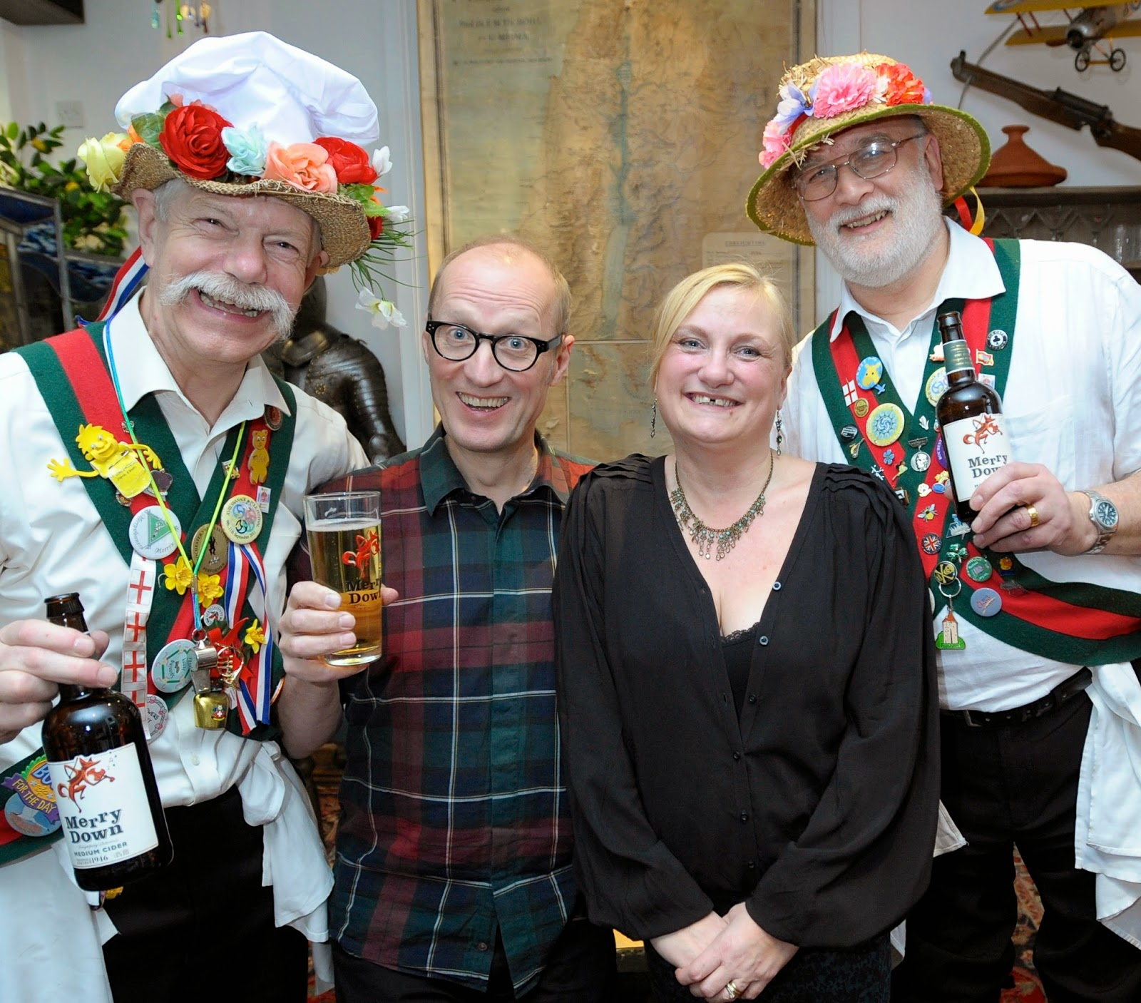 "blogger madmumof7 ""working"" with Ade Edmondson and morris dancers"
