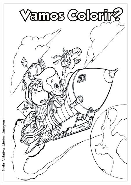 Jimmy Neutron e Caio Wheezer para colorir