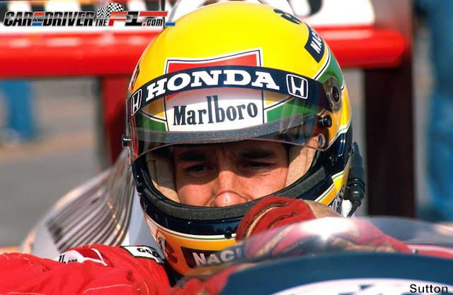 Ayrton Senna concentrado
