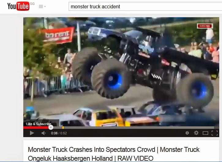 Monster truck accident, Monster truck safety, Netherland monster truck