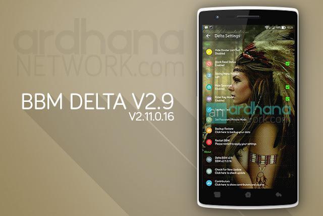 BBM Delta V2.9 - BBM Android V2.11.0.16