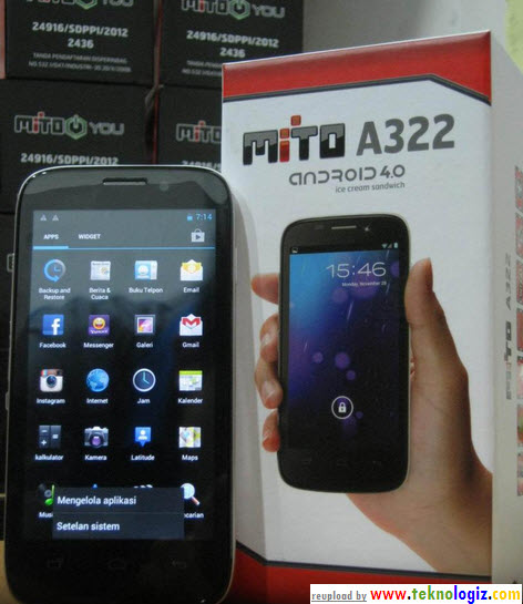 Mito A322, harga 1,5 jutaan spesifikasi Dual Core - www.teknologiz.com