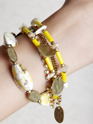 Ivory Tag Women Golden Sunshine Yellow Jewellery Set images 1080 1440 mini
