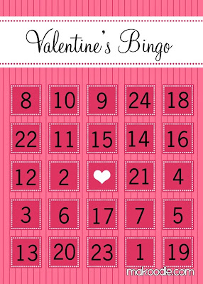 Free and Printable Valentine's Day Bingo Cards For Kids 10