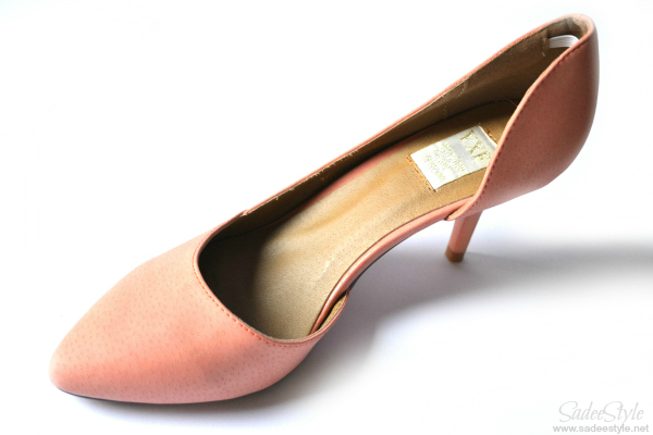Orange leather pointed heels review