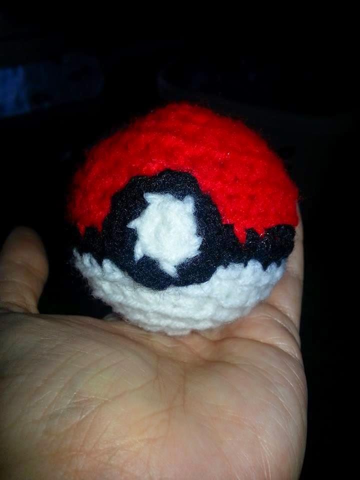Pokeball Free Crochet Pattern Hooked By Kati