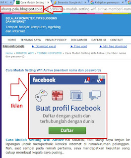 iklan adsense sudah muncul di blogspot.co.id