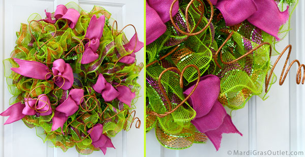 Deco Mesh DIY: Make a Ruffled Flip Flop Wreath for Summer, with Glitzy Sticks!