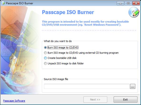 製作開機USB、ISO燒錄成光碟軟體推薦:Passcape ISO Burner Portable 免安裝版下載
