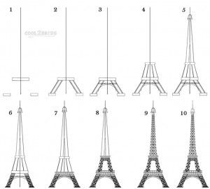 How To Draw The Eiffel Tower In Simple 10 Steps Easy Step By Learn For Beginners