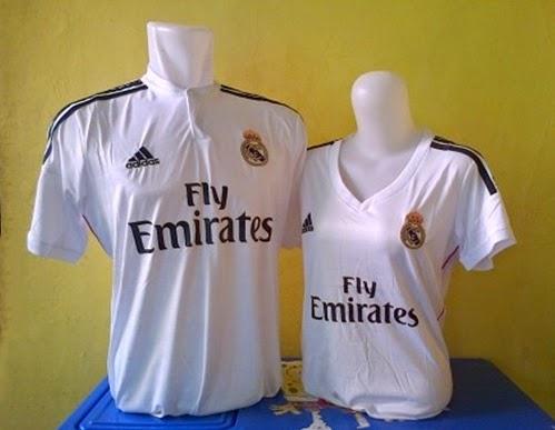 Baju Kaos Jersey Bola Real Madrid Home Couple 2014-2015