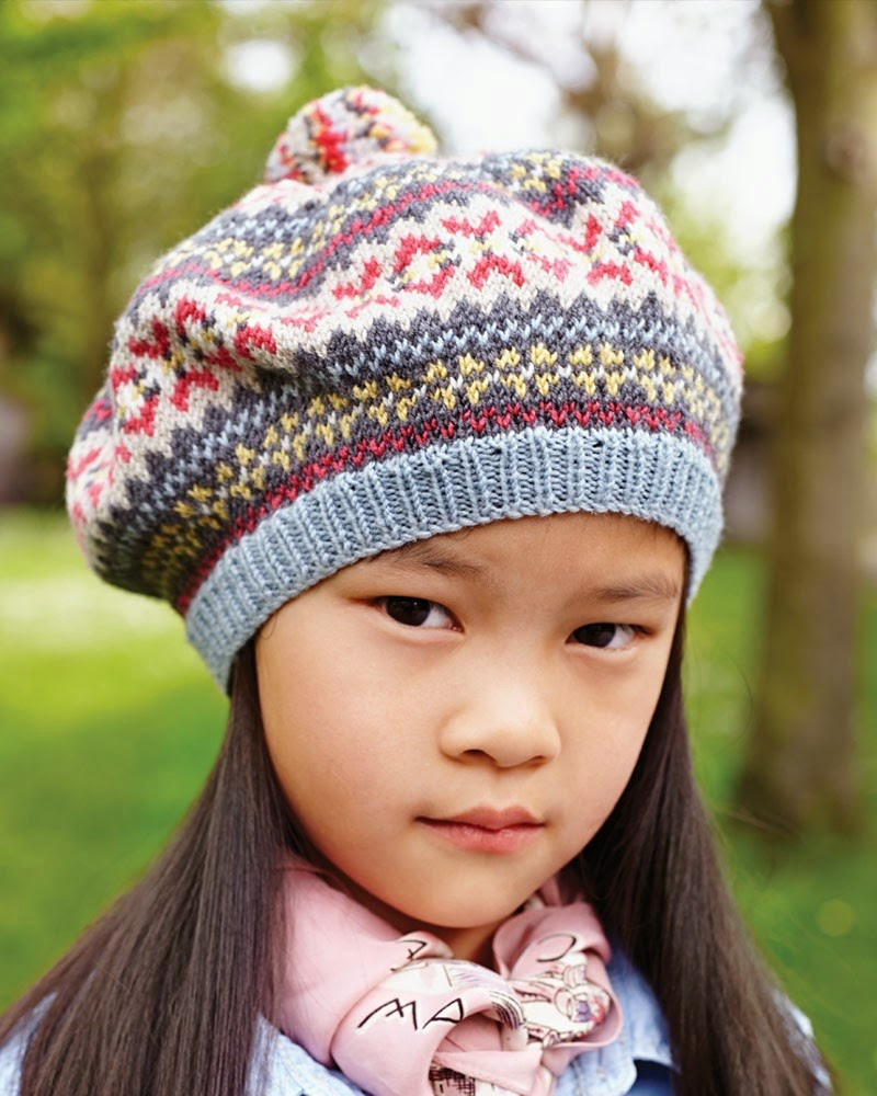 Fair Isle Beret Knitting Pattern : The Knitting Needle and the Damage Done: Debbie Bliss Magazine Fall/Winter 20...