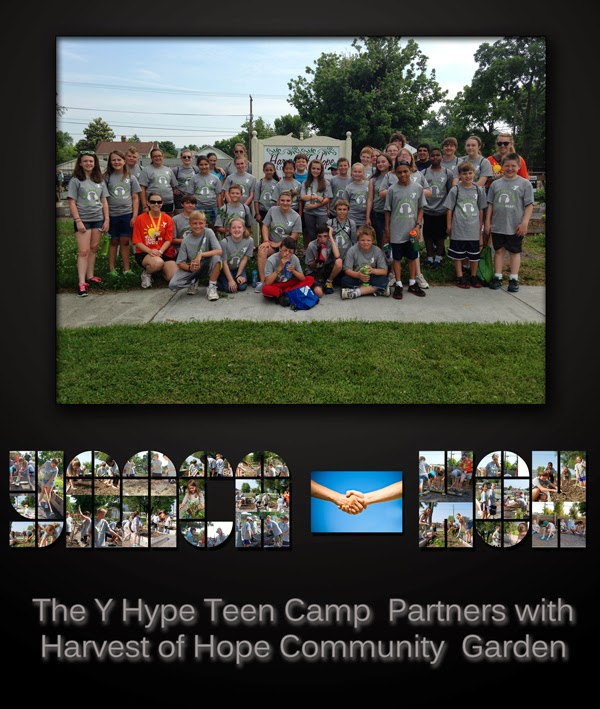 YMCA Hype Teen Camp and Harvest of Hope Community Garden