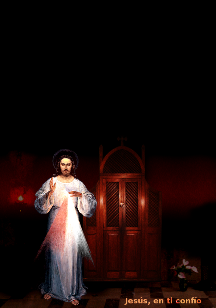 divina misericordia con el confesionario