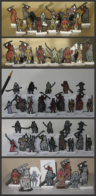 Samurais, Ninjas and more - paper minis