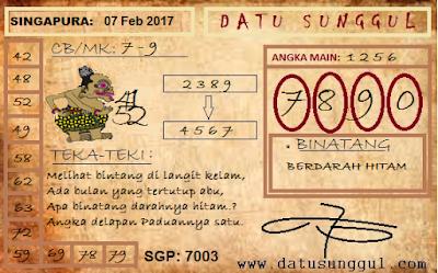 PREDIKSI TOGEL SINGAPURA RABU 08-02-2017   Kode syair Sgp Hk