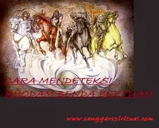 CARA MENDETEKSI KHODAM MUSTIKA BERTUAH /PUSAKA/AZIMAT    *Pengertian Khodam: suatu makluk astral yang berupa (jin,iblis,siluman,spirit,power atau apapun sebutannya)sebagai penghuni atau yang mendiami disebuah mustika,pusaka,azimat atau benda-benda bertuah lainnya dan memiliki power energi yang memiliki khasiat atau tuah tertentu yang dapat menimbulkan efek yang luar biasa dalam kehidupan manusia,diantaranya: -kewibawaan -pengasihan -kerejekian -bahkan anti cukur dan kebal sekalipun.    *Sebagai manusia kita pada dasarnya sudah mempunyai panca indra yang dapat membuat kita peka terhadap sesuatu,contoh logikanya,ketika kita sedang berada di tempat yang wingit,angker,bulu kuduk kita akan merinding dengan sendirinya.nah hal itulah sebuah manifestasi kepekaan kita terhadap lingkungan. sekarang mari kita kepokok inti pembahasan kita,khodam pada benda bertuah dapat kita deteksi dengan cara-cara sebagai berikut: -Letakkan benda bertuah yang ingin anda cek keberadaan khodamnya di depan anda -Lakukan duduk bersila untuk meditasi seperti gerakan yoga,letakkan kedua tangan anda diatas lutut anda,kaki anda bersila dan fokus.pejamkan mata anda,hal ini untuk menambah konsentrasi anda supaya bisa merasakan keberadaan mereka. -Gunakan hati dan perasaan anda untuk mengetahui atau merasakan getaran energi di seluruh tubuh anda,lingkungan anda,entah suhu/hawa disekitar anda yang mulai berubah,atau getaran merambat,hawa dingin atau panas,tangan anda yang merasa seperti ditusuk-tusuk jarum,atau merinding,atau yang lain-lain.(setiap orang dapat merasakan hal yang berbeda-beda,sesuai dengan aura murni atau energi murni yang dimilikinya) -Jika anda masih berani untuk melanjutkan dan menghendaki untuk melihat wujud nyatanya maka niatlah dalam hati,kemudian buka mata anda dan lihat pandangan ke arah mustika anda dengan tatapan tajam,kemudian rasakan dan fokus niatkan dengan sungguh-sungguh tanpa ragu,munculkan semua yang anda rasakan,dan infestasikan atau satukan energi tersebut hingga berwuj