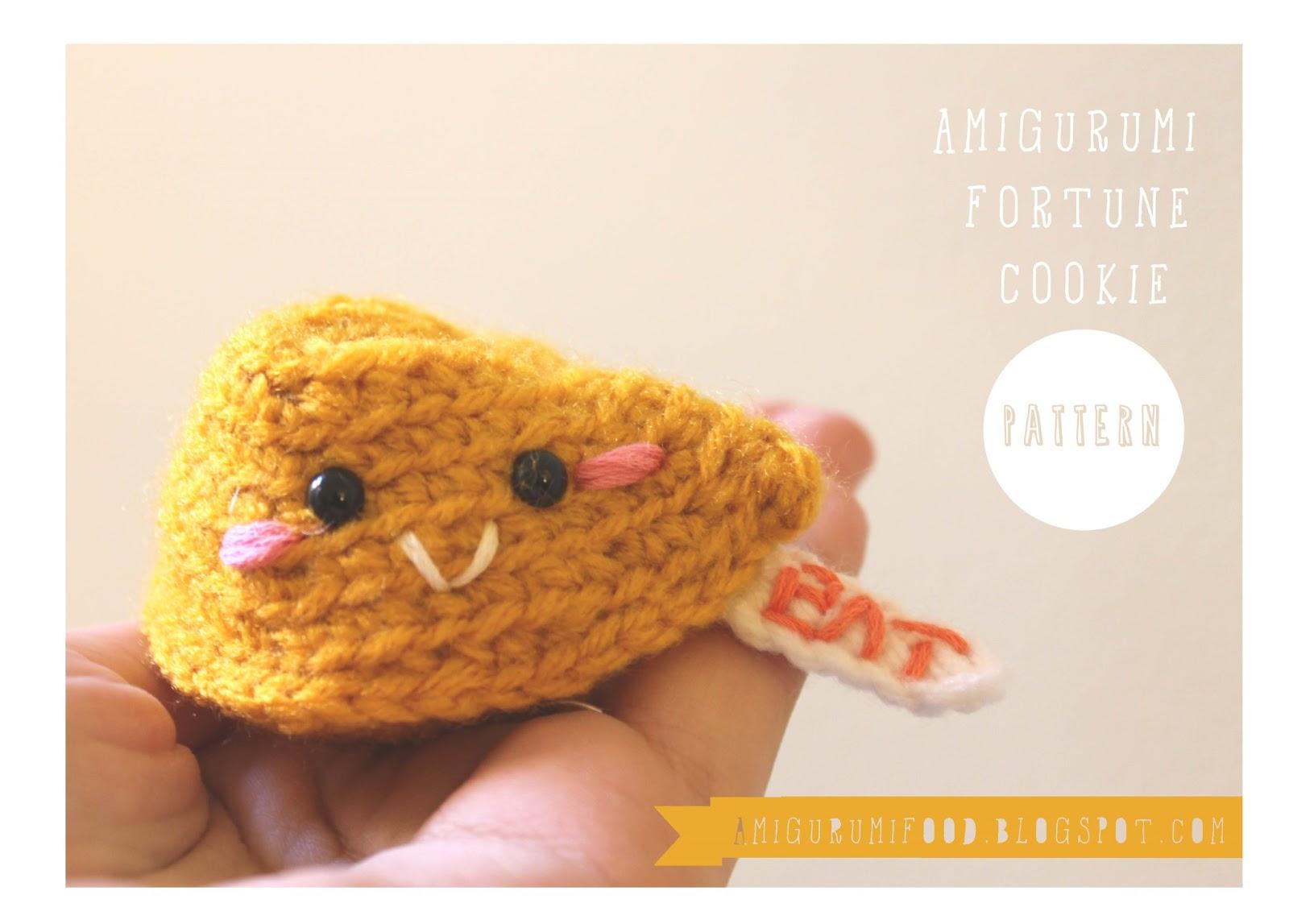 Amigurumi Patterns Free Food : Amigurumi Food: Fortune Cookie Amigurumi