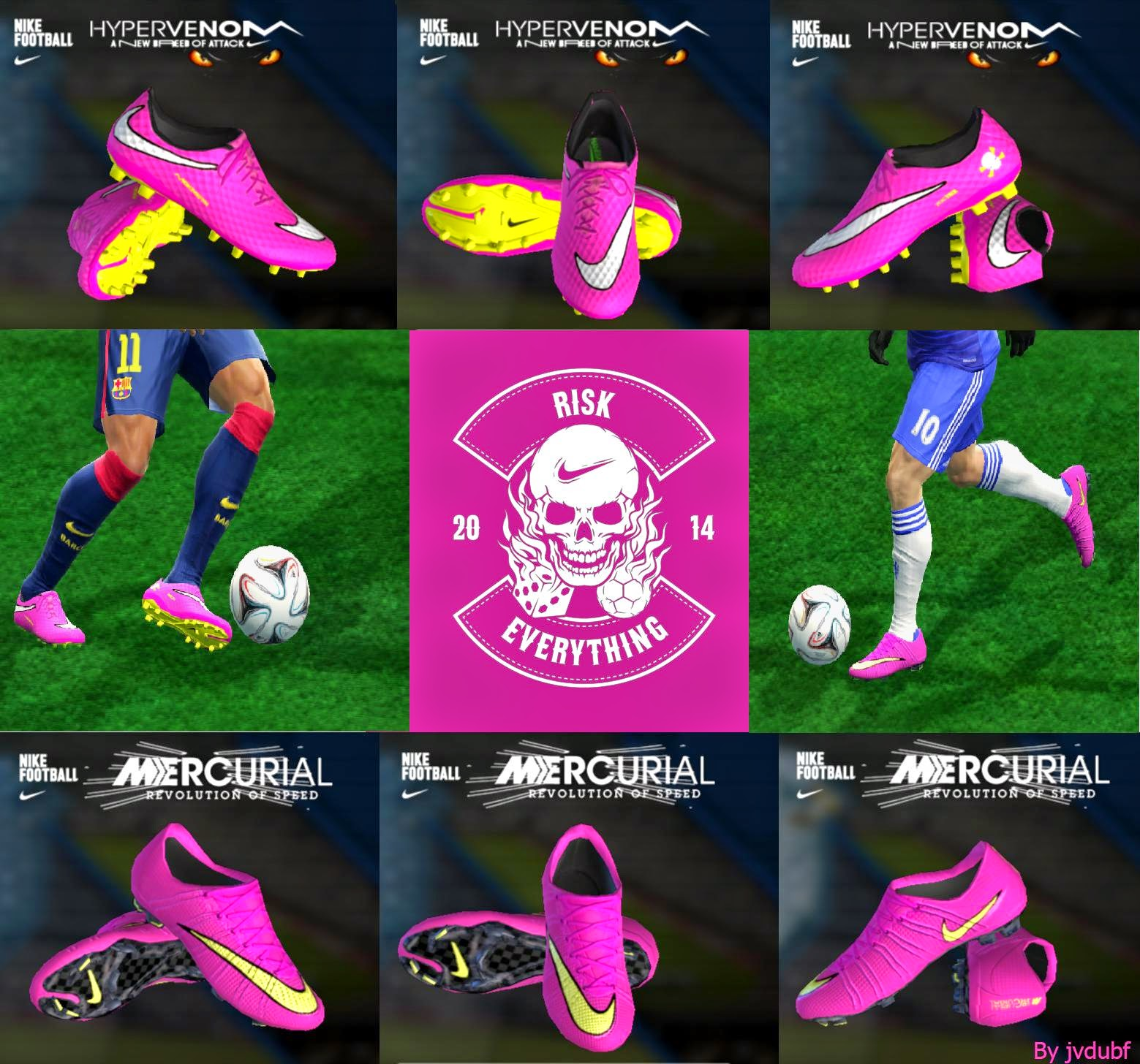 PES 2013 Mini pack nike mercurial Superfly and Hypervenom Pink by jvdubf
