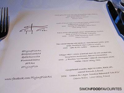 Simon food favourites flying fish summermenu tweetup for The flying fish menu