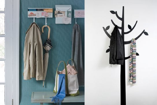 12 ideas para decorar el recibidor de tu casa ideas para for Perchero para carteras