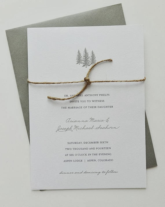 Winter Wedding Stationary