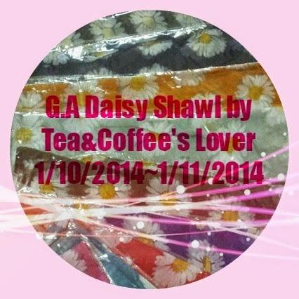 G.A Daisy Shawl by Tea&Coffee's Lover