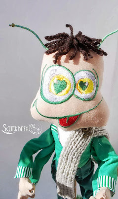 текстильная игрушка Кузнечик