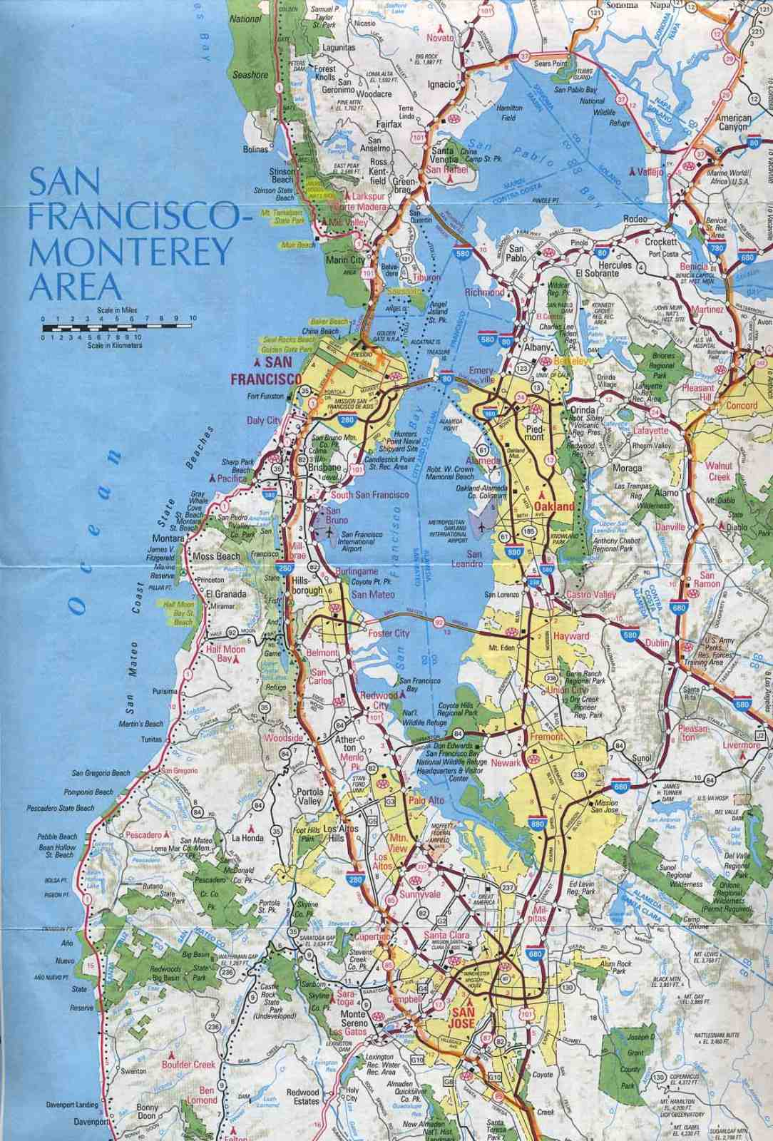 Online Maps San Francisco Neighborhood Map