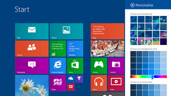 Customizing Windows 8.1 Homescreen