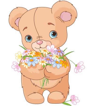 Floral Bouquet Teddy Bear