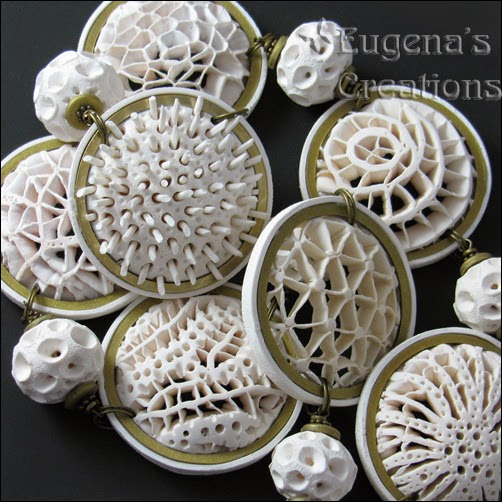 Polymer Clay Openwork Necklace by Eugena Topina