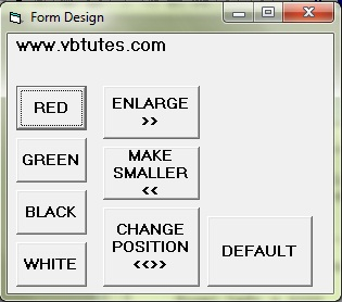 Form design with different form properties