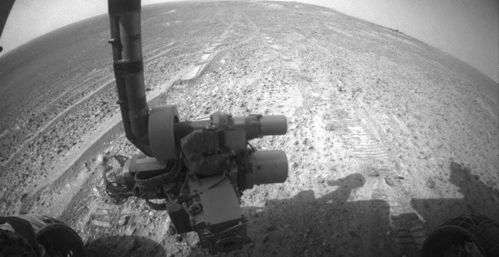 NASA's Mars Exploration Rover Opportunity is continuing its traverse southward on the western rim of Endeavour Crater during the fall of 2014, stopping to investigate targets of scientific interest along way. Credit: JPL/NASA-Caltech
