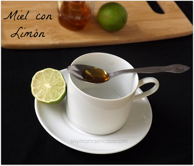 remedios naturales: miel con limon