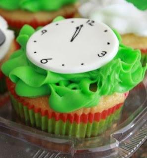Cupcakes de Año Nuevo