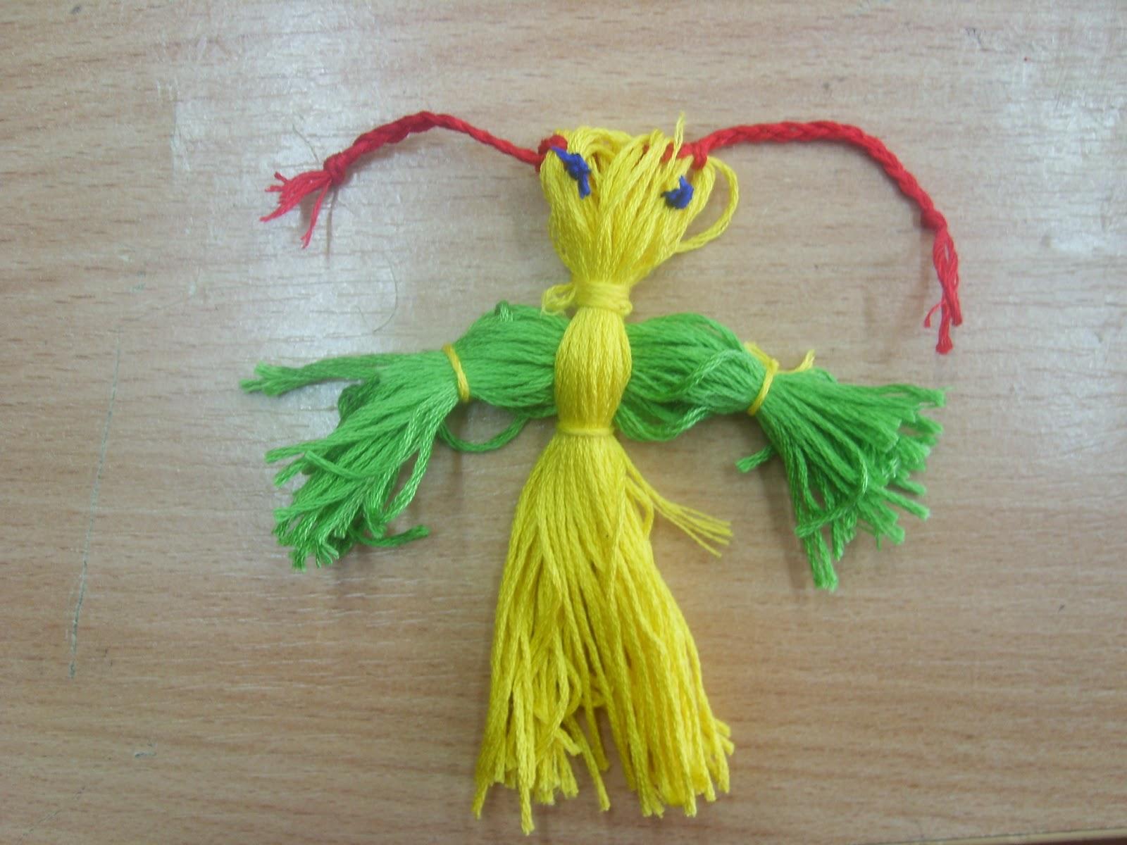 Куклы из ниток своими руками пошаговая 12