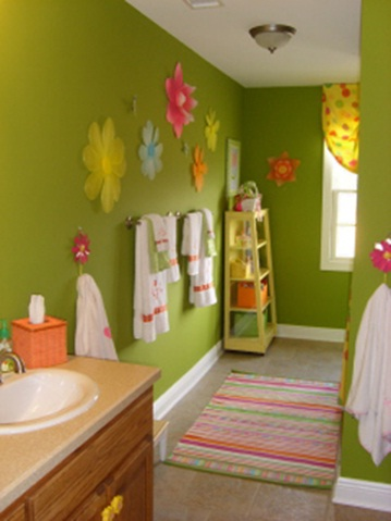Decora el hogar decoraci n de ba os para ni os for Cool bathroom ideas for girls