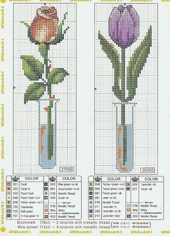 Вышивки крестом из схемами бесплатно цветы