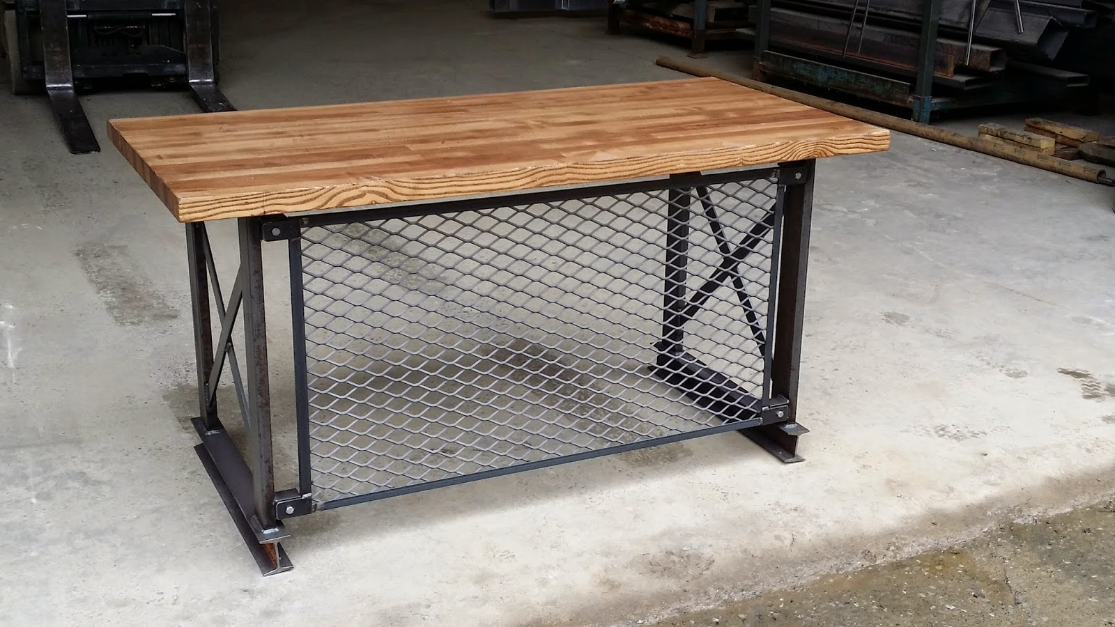 distressed industrial furniture. iron age office industrial furniture custom built desks distressed