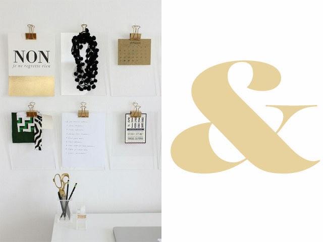 Blog maison - décorer un mur -typo affiche