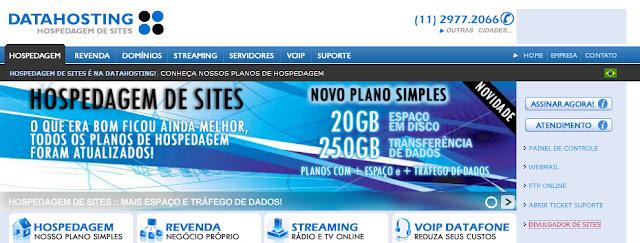 datahosting divulgar site e blog em 321 sites de busca