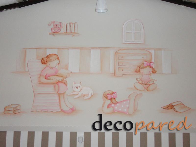 Decopared murales infantiles en paredes - Murales infantiles pintados a mano ...